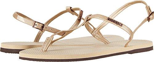 Havaianas Womens You Riviera Sandal 4137475, Sand Grey, 39/40