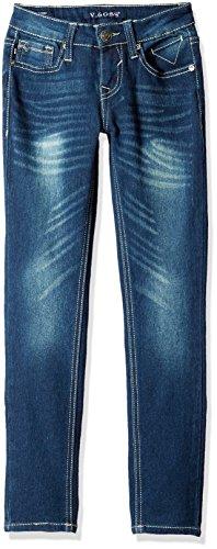 Vigoss Girls' 5 Pocket Skinny Jean, Ink, 10 (Jeans Girls Skinny Slim)