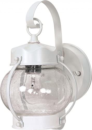 Nuvo 60 630 Onion Lantern with Clear Seed Glass, White