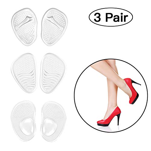 (Metatarsal Pad|High Heels Insert|Foot Gel Cushion|Comfort One Size Fits Shoe Inserts for Women(Pack of 3))