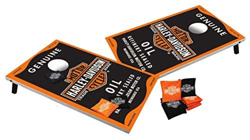 Harley-Davidson Genuine Oil Can Bar & Shield Bean Bag Toss, Black 66236