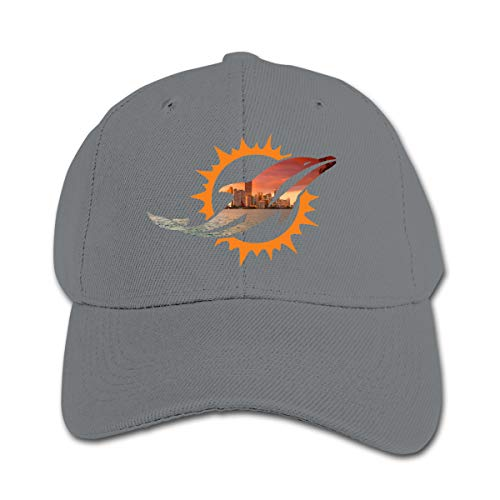 Miami Dolphins Lightweight Kids Baseball Cap Boys& Girls Adjustable Sun Hat Gray