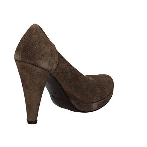 CALPIERRE Zapatos de salón mujer beige gamuza AJ405