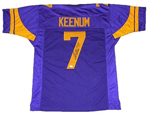 Autographed Case Keenum Jersey - #7 Color Rush - JSA Certified - Autographed NFL Jerseys