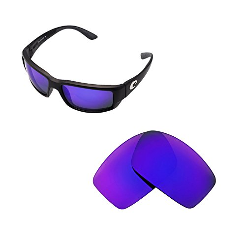 Walleva Replacement Lenses for Costa Del Mar Fantail Sunglasses - Multiple Options Available (Purple - - Costa Z87 Del Mar