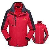 Sunhusing Men/Women Fleece Liner Plus Size Hoodie Two Piece Set Sport Assault Coat Outdoor Jacket