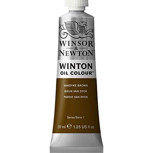 Winsor & Newton Winton Oil Colour Paint, 37ml tube, Vandyke - Brown Oil Dark