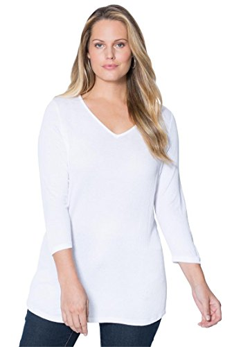 Jessica-London-Womens-Plus-Size-V-Neck-Top