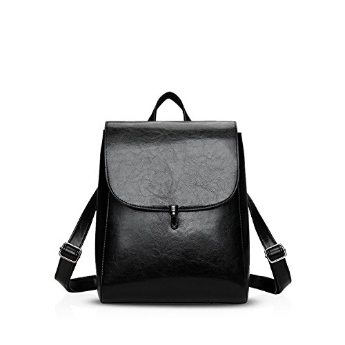 NICOLE Bolso del Bolsa Mochila Negro Elegante Negro Suave Mode De Mochila Durable Nuevo amp;DORIS Hombro Viaje PU CvnzWCr