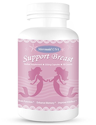 Curves Breast - M.U Natural Breast Enhancement Pills Support Breasts Lift Firm Health Supplement Natural and Green Herb to Fight Lumps of PRO Formula M.U Mermaid USA