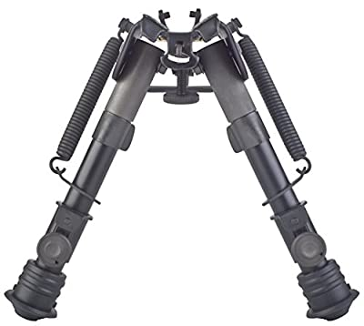 """TipTop® EZ Rifle Bipod 6"""" - 9"""": Sling Stud Mount, Extendable, Folding, with Sling-attached Hole PN#S3-34659"""