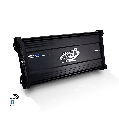 Lanzar Amplifier Car Audio, 4,000 Watt, 6 Channel, 2 Ohm, Bridgeable 4 Ohm, MOSFET, RCA Input, Bass Boost, Mobile Audio, Amplifier for Car Speakers, Car Electronics, Wireless Bluetooth (Amplifier Audio Car)