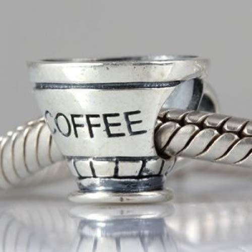 Taza de caf/é taza de plata de ley 925/Charm Beads m/ás principales Charm pulseras