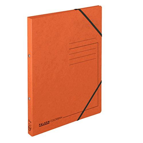 FALKEN - Carpeta de anillas Colorspan para DIN A4, 2 anillas, color naranja