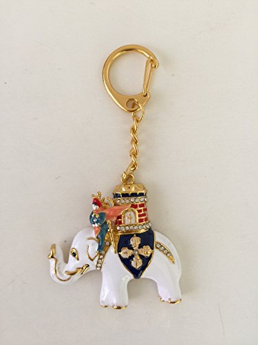 Feng Shui Power Elephant with Warrior Keychain Amulet USA Seller by Mylucky