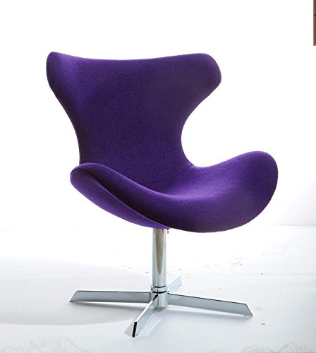 Modrest Aludra Modern Purple Fabric Lounge Chair Purple/Fabric