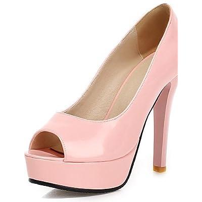 Ggx/femme Chaussures talons/Peep Toe/Plateforme talons Parti & Soir/robe Stiletto Talon à enfiler Vert