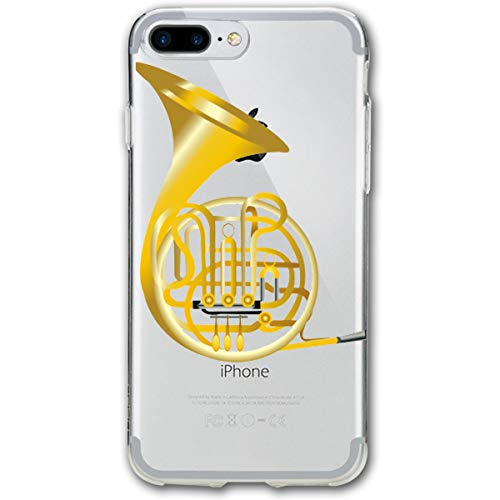 Golden French Horn iPhone 7 Plus Case, iPhone 8 Plus Case,Shock-Absorption Bumper Cover, Anti-Scratch Clear Back Suitable for 5.5 Inches ()