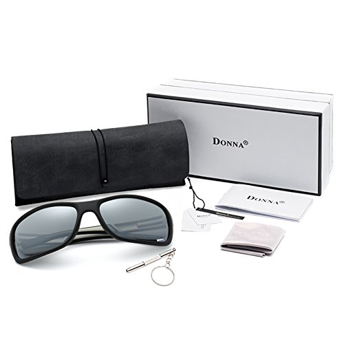 48b8124a11b DONNA Unisex Cool Polarized Sports Sunglasses with Oversized Wrap Around  Frame for Fishing Golf Hiking D53