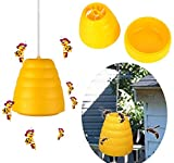 OYFFSTORE LED Plastic Bee Hornet Trap Catcher Hanging Non-Toxic Insect Control Tool