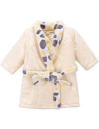 Liveinu Baby Boy Girls Bathrobe Winter Thicken Flannel Sleepwear Robes 0-4 Years