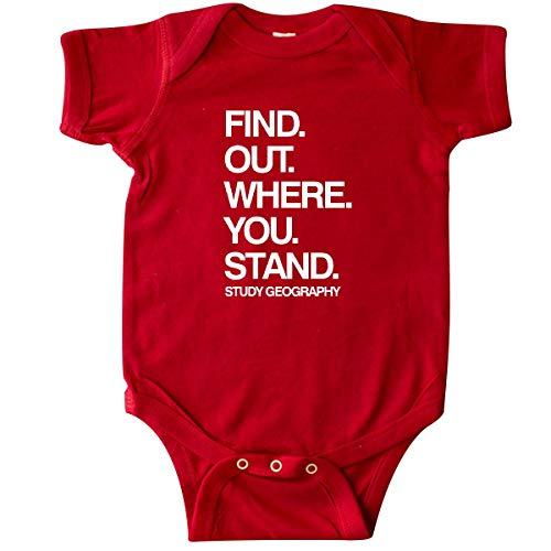 inktastic - Study Geography White Text Infant Creeper 6 Months Red 2a5fc ()