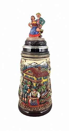 German Beer Stein Bavaria Panorama Stein 0.5 liter tankard, beer mug ZO 1747/9013
