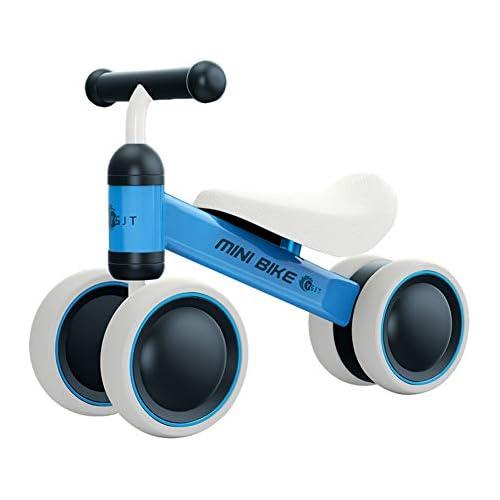 chollos oferta descuentos barato YGJT Bicicleta sin Pedales 1 Año Juguetes Bebes Triciclos Bebes Correpasillos Bebes 1 Año Regalo para 1 Año Azul