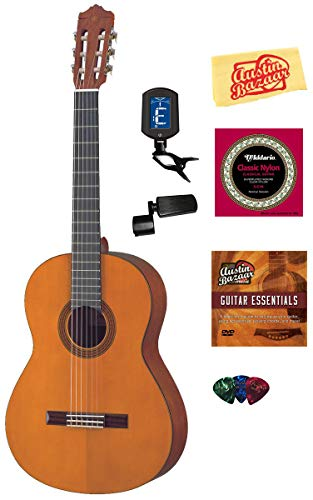 (Yamaha CGS104A Full-Size Classical Guitar Bundle with Instructional DVD, Strings, Pick Card, and Polishing Cloth - Natural)