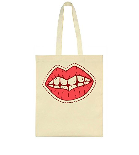 Bag Lips Girly Tote Patch Cool Hp0aq4wH