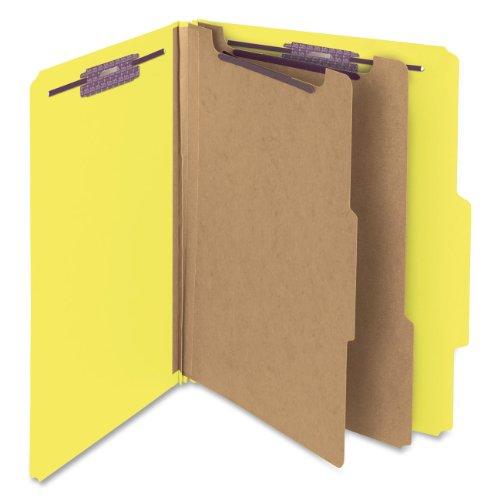 Divider 2 Pressboard (Smead Pressboard Classification File Folder with SafeSHIELD Fasteners, 2 Dividers, 2