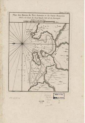 1764 Map Plan Des Havres De Port Antonio Et De Saint Francois   Situ S A La Coste Du Nord Est De Li