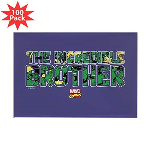 CafePress Hulk Brother Rectangle Magnet (100 pack)