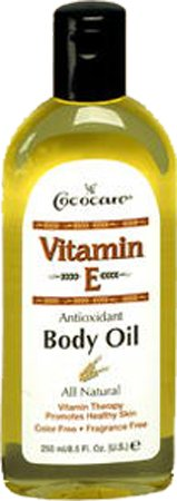 Cococare Vitamin-E Antioxidant Body Oil 8.5 Ounce (250ml) (3 Pack)