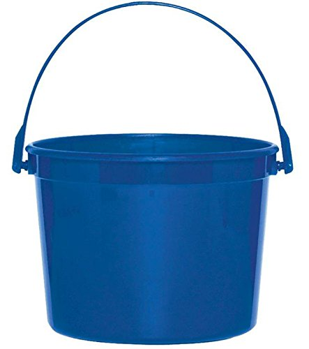Amscan Plastic Party Favour Bucket Giveaway, Bright Royal Blue, 6