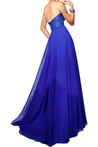 Promgirl House Damen Herrlich Royalblau A-Linie Traegerlos Abendkleider Cocktail Ballkleider Lang