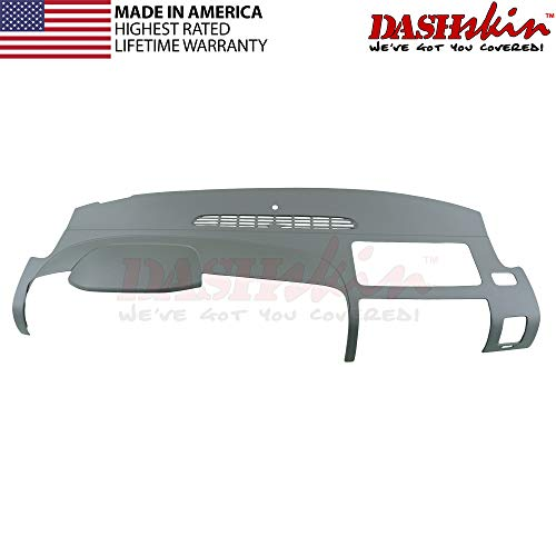 DashSkin Molded Dash Cover Compatible with 07-13 Silverado LS/LT & Sierra SL/SLE in Dark Titanium (USA Made)