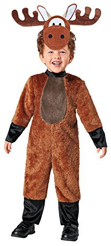 SEASONS DIRECT Halloween Baby-Boy's Woodland Moose Costume Includes: Jumpsuit,Hat with Attached Mask (12-18 -
