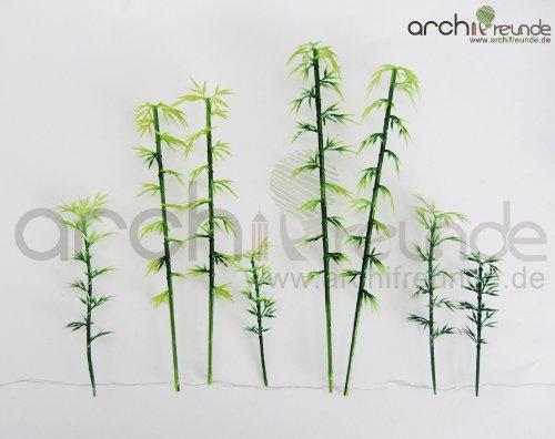8 x Modell Baum - Bambus, Bamboo Bäume für Landschaft Modellbau Archifreunde Architektur