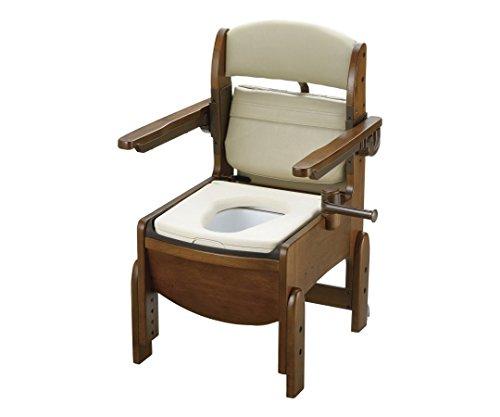 リッチェル7-2312-02木製トイレきらくコンパクト肘掛跳ね上げやわらか便座 B07BD2J8HK