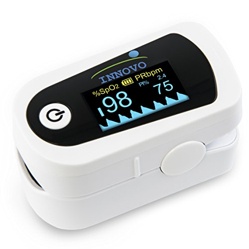 Innovo Premium CPE Fingertip Pulse Oximeter with Plethysmograph and Perfusion Index
