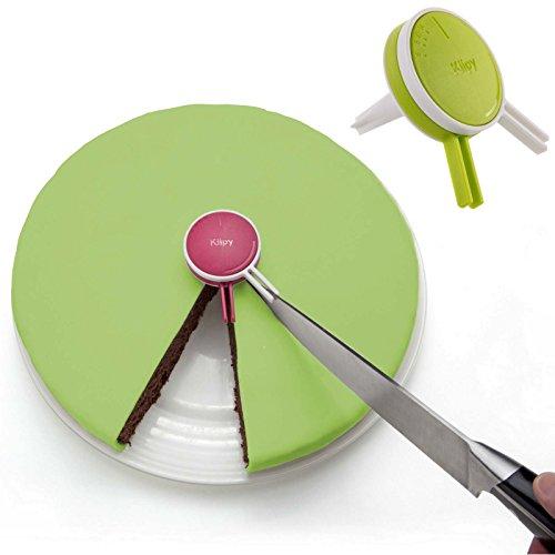 Pie Cutter 6 Cut (Klipy (2 Pack) Cake Portion Cutter Pie Cutting Guide Helps Cut Even Pieces Plastic Kitchen GadgetTool)