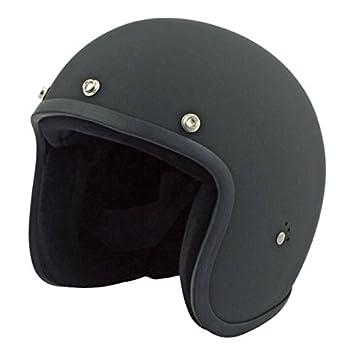 Casco abierto universal Jet Bandit, Black negro mate, delgado, para Moto Custom M