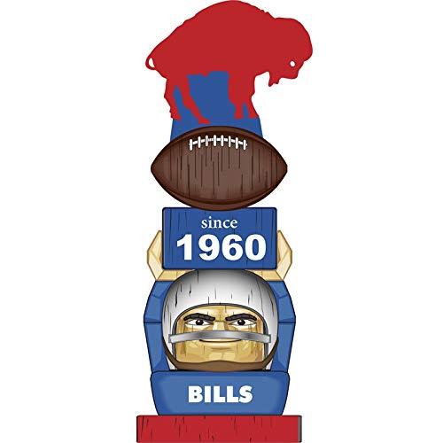 Team Sports America Buffalo Bills Vintage NFL Tiki Totem Statue Buffalo Bills Team Mascot Football