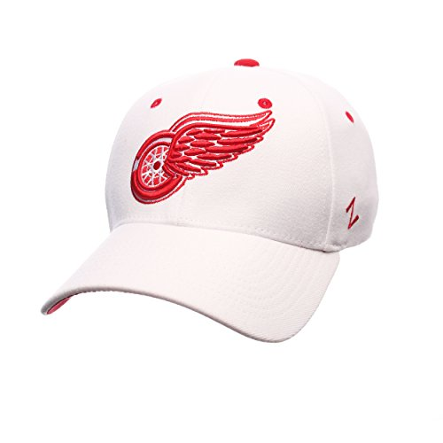 Zephyr NHL Detroit Red Wings Men's Breakaway Cap, X-Large, White (Wing White)