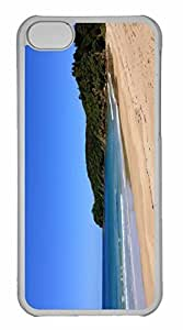 iPhone 5C Case, Personalized Custom Wild Sea Shore for iPhone 5C PC Clear Case