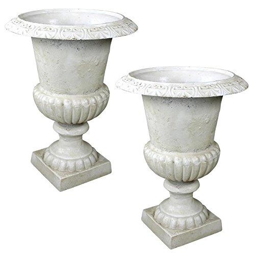 Design Toscano Chteau Elaine Authentic Iron Urn - Large Set of 2 -