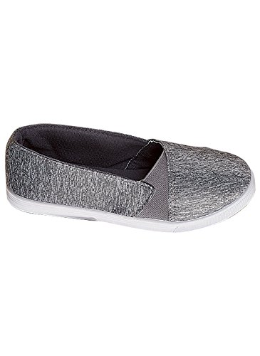 Carol Wright Gifts Side Gore Heather Slip-on, Gris, Tamaño 9-1 / 2 (ancho)