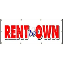 """36""""x96"""" RENT TO OWN BANNER SIGN tv flat screen furniture appliances computers"""