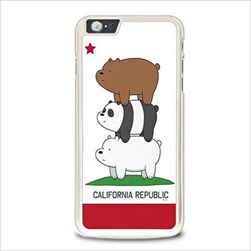 Coque,We Bare Bears California Republic Case Cover For Coque iphone 6 / Coque iphone 6s